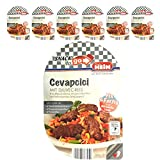 Cevapcici mit Djuvec Reis, Hackfleischröllchen mit gekochtem ReisSnack to go 6er Pack (6 x 220 g)