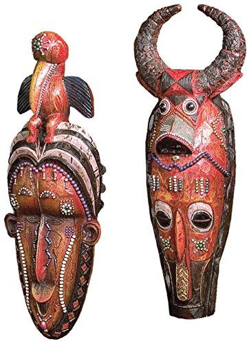 Design Toscano Masken des Kongo - Wandfiguren