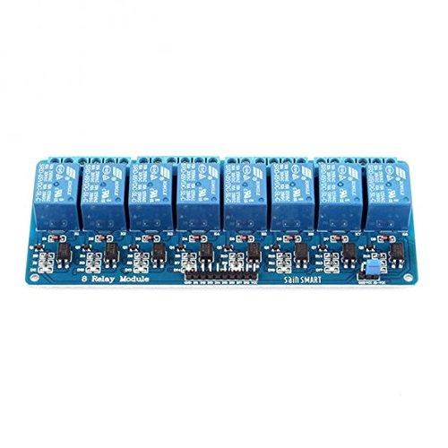 SainSmart 8-Kanäle RelaisModul Brett 5V Für Arduino PIC AVR MCU DSP Relay Module (Output Hardware Kit)
