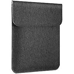 MoKo 7-8 Pouces Housse Universelle Compatible avec iPad Mini 5/4/3/2/1, Lenovo Tab 4 8.0, Samsung Galaxy Tab S2 8.0, Housse de Protection, Sac de Transport en Polyester Portatif - Gris Foncé