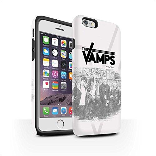 Officiel The Vamps Coque / Matte Robuste Antichoc Etui pour Apple iPhone 6 / Brossé Design / The Vamps Séance Photo Collection Esquisser