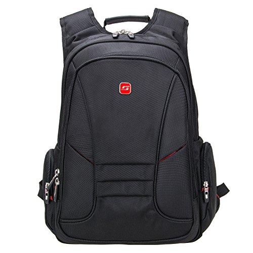 Preisvergleich Produktbild Soarpop BB4347MBK Schwarze Leinwand Laptop Rucksack Geschfts Rucksack