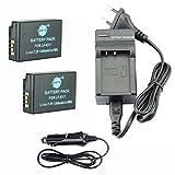 DSTE 2-Pack Ersatz Batterie und DC153E Viaje Cargador kit para Canon LP-E17 EOS M3 750D 760D Rebel...