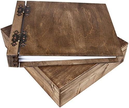 75 fogli legno album CARTONE bianco in coordinato con con con legno scrignetto | Molti stili  | Di Nuovi Prodotti 2019  | Forte valore  a0242a