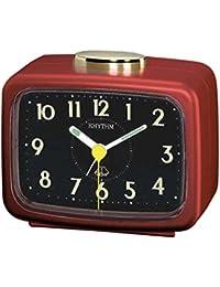Rhythm Red sqaure Basic bell alarm clokcs 10x12x8Cm