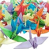 Hangnuo 100pcs 3d Déjà plié Origami grues Paillettes Couleur Mélange de couleurs