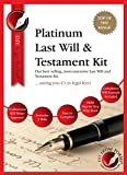 PLATINUM LAST WILL AND TESTAMENT KIT. 'Top of the range DIY Will Kit, 2016 Edition, with full instructions included, direct from Publisher',