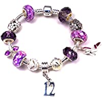 8b12a705e 12th BIRTHDAY BRACELET, Silver Charm Bracelet, Silver, Crystal, With  Complementary Gift Box