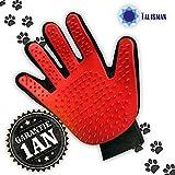 Talisman Gant de massage et toilettage avec picots pour chien, chat et lapin - Doux, confortable et sans danger pour votre animal de compagnie à poils longs ou courts