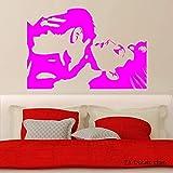 Amore Coppia Decalcomanie da muro per camera da letto Passione Romantico Adesivo da parete per soggiorno Sexy Gilrs Art Murale Decorazione domestica color-2 56x73cm