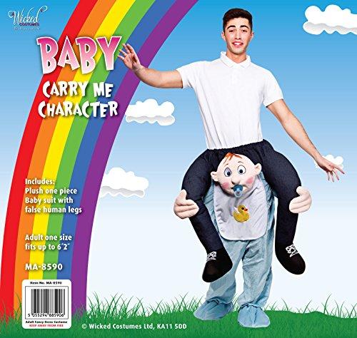 Imagen de wicked carry me baby  disfraz para adultos diseño de bebé, talla única  alternativa