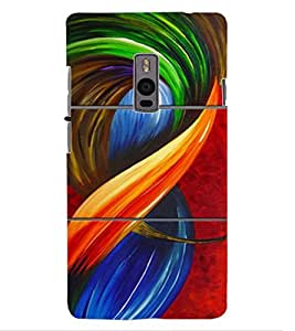 ColourCraft Abstract Image Design Back Case Cover for OnePlus Two
