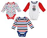 #2: FS Mini Klub Baby Boys' Bodysuits - Pack of 3 (89983E MU_0-3M, 0-3M, Multi-Co... (89983E MU_0-3M)