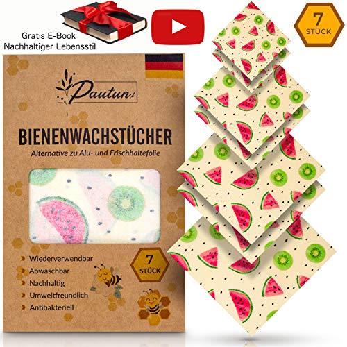 ® Wachstücher für Lebensmittel, Beeswax Wrap Zero Waste und Plastikfreie Produkte Wachspapier, Bees Wrap Nachhaltige Wiederverwendbar, Wax Paper, Bienenwachstücher (Wassermelonen)