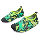 JOINFREE Jungen lustige Dinosaurier Schwimmen Wasser Schuhe Socken gemütliche Strandschuhe Slipper Quick Dry Pool Schuhe, 28-29 EU