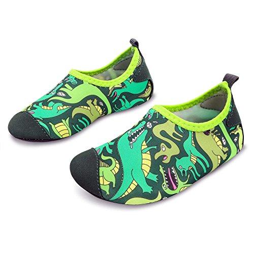 ige Dinosaurier Schwimmen Wasser Schuhe Socken gemütliche Strandschuhe Slipper Quick Dry Pool Schuhe, 32-33 EU ()