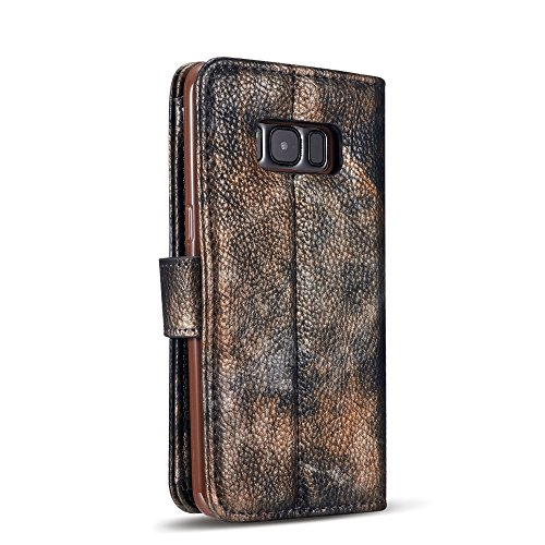 Wald Serie Bunte Paiting Litchi Textur Premium PU Leder Horizontale Flip Stand Brieftasche Case Cover mit Card Slots für Samsung Galaxy S8 Plus ( Color : Crimson ) Darkblue