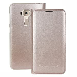 Heartly Premium Luxury PU Leather Flip Case Cover With Card Slot For Asus Zenfone Go ZD552KL - Hot Gold