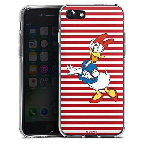 Apple iPhone X Silikon Hülle Case Schutzhülle Disney Daisy Duck Fanartikel Merchandise Silikon Case transparent