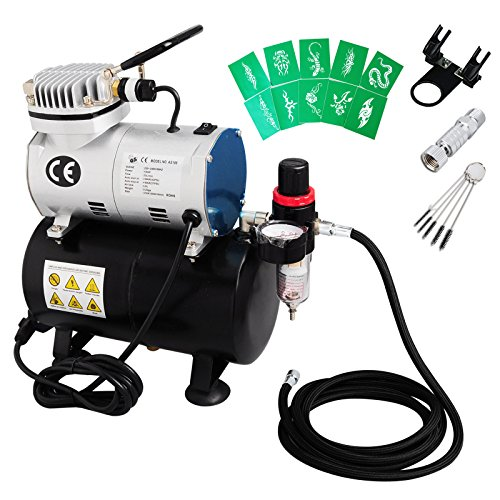 voilamart-1-6hp-high-performance-professional-quiet-airbrush-compressor-kit-with-3l-tank-hose-stenci
