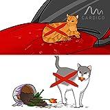 Gardigo Tiervertreiber Katzenschreck Hundeschreck Tierabwehr mit Stroboskop-LED und Ultraschall, Erdspieß Kugelgelenk Halterung - 5