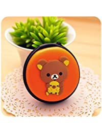 Designeez Cute Cartoon Small Storage Bag Coin Purse Headset Bags Eco-friendly Headset Bags 8x3.5cm (Bear Brother)