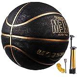 Senston Ballon de Basketball Mixte Couleur Enfant Surface Rugueuse, Extérieur et intérieur -Taille 7...