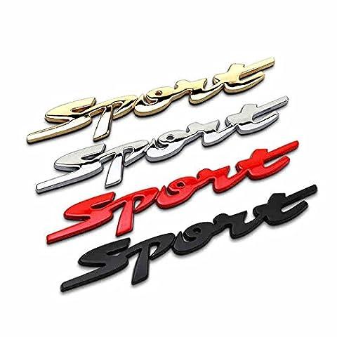 Eximtrade Auto Voiture 3D Autocollant Décoration Decals Sport (Rouge)