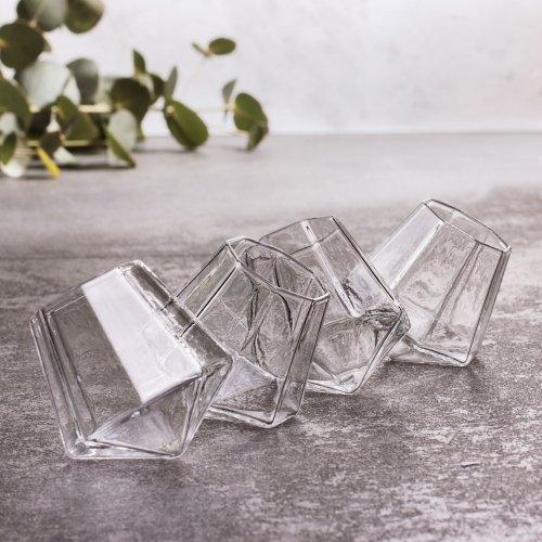Thumbs Up DIASHT4 Diamond Shot Gläser (4er Set), Glas, Durchsichtig, 8.5 x 24 x 8.5 cm