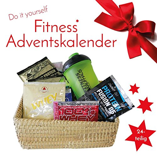 Fitness Adventskalender 2018 / 24 tlg Inkl. Shaker
