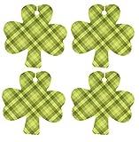 Eclectic Lady Set von vier kleeblatt kamille luftverbesserer grüne gingham