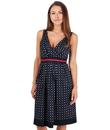 KRISP Damen Vintage & Rockabilly 1950er Kleid mit Libellenmuster