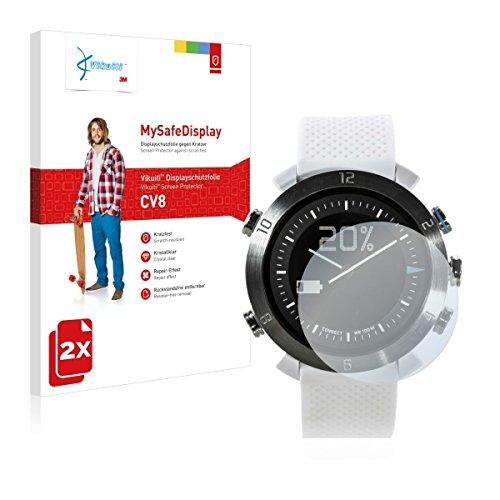 2x Vikuiti MySafeBildschirm CV8 Bildschirmschutz Schutzfolie für Cogito Classic (Ultraklar, strak haftend, versiegelt Kratzer)