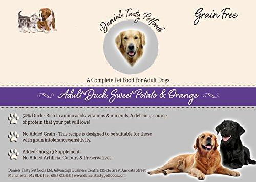 Welpenfutter Hundefutter–Erwachsene Ente, Sweet Potato & Orange