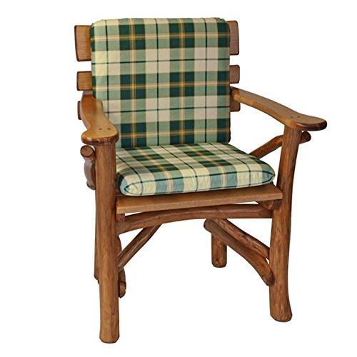 Gartenmoebel Auflage Stuhl Boston grün/beige kariert Sesselauflage Stuhl Niederlehner Sitzpolster