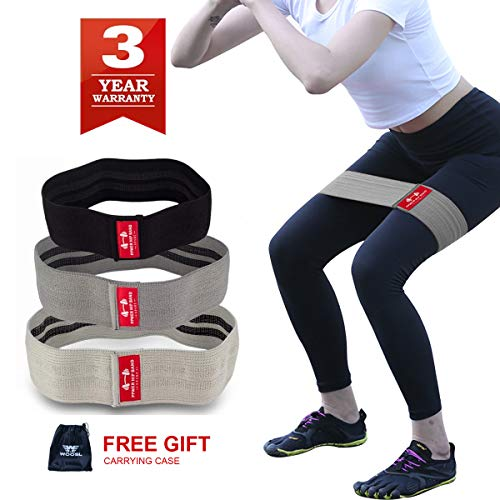 SANJIANKER Bandas de resistencia para ejercicios de arranque, bandas de cadera para piernas y botones, bandas...