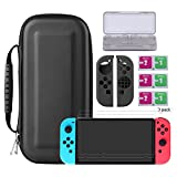 Bestico Kit Protección para Nintendo Switch, Funda Switch Accesorios de Protección incluyen Estuche Nintendo Switch /Estuche tarjeta de juego/3 Clear HD Full Coverage Nintendo Switch Protector de Pantalla/Joy-Con Skin Estucha Silicona (Switch Kits)