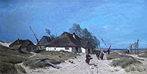 Painting de la cape Rural Bienne on Hidden mer Large Art Print lf970