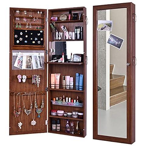 bxsg® Style Européen à verrou de porte, mur avec Full Body Coiffeuse Miroir avec bijoux armoire 6130