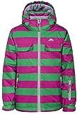 Trespass Motley, Hot Pink, 9/10, Wasserdichte Skijacke mit abnehmbarer Kapuze, Schneefang & Skipasstasche für Kinder / Unisex / Mädchen und Jungen, 9-10 Jahre, Rosa / Pink