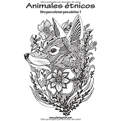 Animales Etnicos Libro Para Colorear Para Adultos 1 Volume 1 PDF