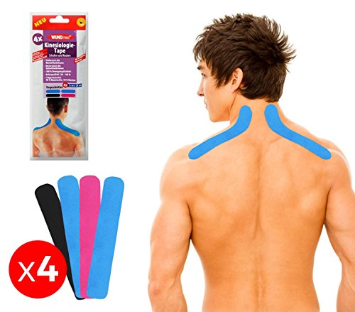 626657 set 4 cerotti per kinesiologia applicata per spalle e nuca taping. media wave store ®