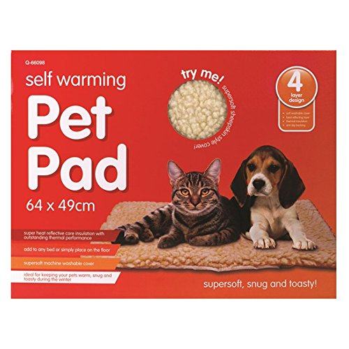 Tappetino autoriscaldante per animali domestici, morbidissimo, lavabile in lavatrice, 64 x 49 cm