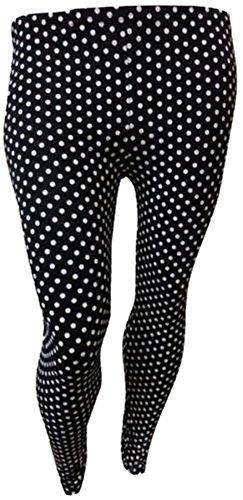 Womens Plus Size Animal Print wilden Blick Stretch Leggings Volle Hosen (48/50, Polka Dot) (Polka Dot Leggings Hose)