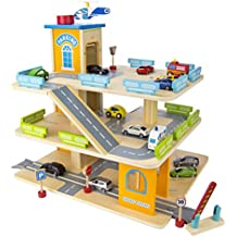 Garage en bois jouet - Grand garage voiture jouet ...