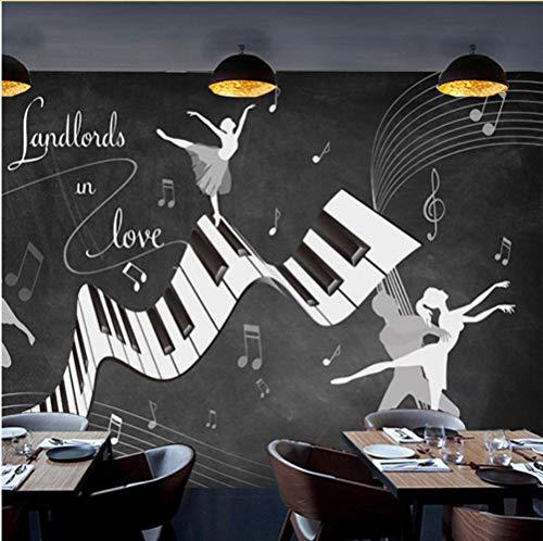 Syssyj Benutzerdefinierte Fototapeten Retro Vintage Ballett Kostüm 3D Wandbild Wohnzimmer Sofa Tv Hintergrund Wand Wasserdichte Fresko 3D Wandpapier-350X250CM