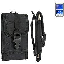 bolsa del cinturón / funda para Samsung Galaxy Young 2, negro | caja del teléfono cubierta protectora bolso - K-S-Trade (TM)