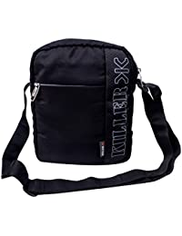 "Killer Men Entizo Traveler Sling Bag For 10"" Ipad/Tablet Shoulder Side Sling Bag,Black"