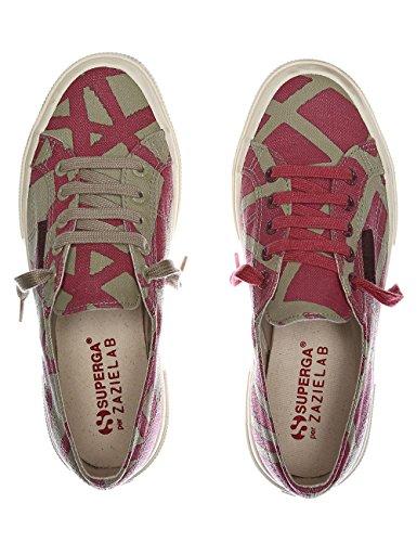 Superga Women's Fanlinu Zazie Woman's Burgundy Sneakers 100% Cotton Burgundy