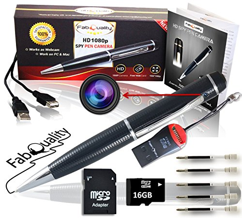 Angebot Premium versteckte Kamera, Spionagestift-Kamera 1080P, versteckt Inkl. 16GB SD-Karte, Kartenlesegerät und 5 Tintenpatronen gratis! Real-HD-Video, Ton- und Bildaufnahme, verbesserte Akkuleistung, multifunktionales Aufnahmegerät Ideales Geschenk (Spy Tasche)